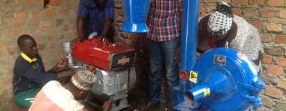 Testing new moringa powder machinery